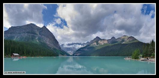 Panorama: Lake Louise / Banff-Nationalpark # Kanada