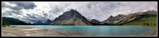 Panorama: Bow Lake / Banff-Nationalpark # Kanada