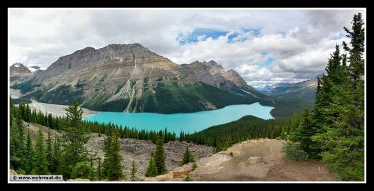 Panorama: Peyto Lake / Banff-Nationalpark # Kanada