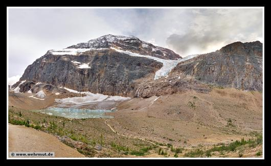 Panorama: Angel Gletscher / Mount Edith Cavell # Kanada